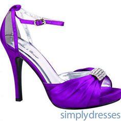 Purple Mid Heels