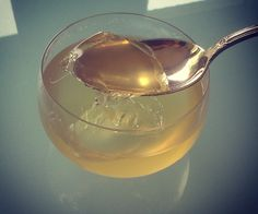 Green tea jelly with mint and lime...load with nutrients that make your hair pretty and help you sleep better!