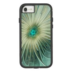 Modern Abstract Fantasy Flower Turquoise Wheat Case-Mate Tough Extreme iPhone 8/7 Case - diy individual customized design unique ideas