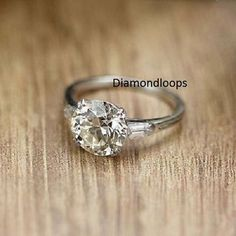 Charles Moissanite Engagement Solitaire Available – Finest Jewelry Beautiful Wedding Rings, Wedding Rings Vintage, Antique Engagement Rings, Vintage Engagement Rings, Wedding Jewelry, Solitaire Engagement, Gold Wedding, Affordable Engagement Rings, Wedding Bands