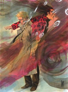 Constantine and Shade the Changing Man by Giuseppe Camuncoli * Hellblazer Comic, Constantine Hellblazer, Comic Book Characters, Comic Books Art, Matt Ryan Constantine, Justice League Dark, Comic Panels, Star Lord, Book Of Life