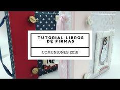 Tutorial libro de firmas comunión 2018 (niña).YouTube Smash Book, Diy, Minis, Crafts, Journal, Youtube, Handmade Journals, Paper Envelopes, Bricolage