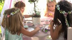 How To Make A Fairy Birthday Party Flower Crown | Pottery Barn Kids, via YouTube.