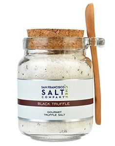 Natural sea salt enhanced with black truffles from Italy. Black Truffle Salt offers the perfect balance between salty, earthy and rich flavors Truffles- one of the most esteemed delicacies in the culinary world 8oz Chef's Jar - Black Truffle Salt