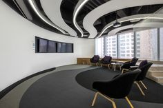 PDM International has developed the new campus of global communications services group WPP located in Shanghai China. The project brought together 26 group companies and more than 3500 people is the Office Interior Design, Office Interiors, Room Interior, Small Room Design, Workspace Inspiration, Commercial Interiors, Ceiling Design, Architecture Details, Shanghai