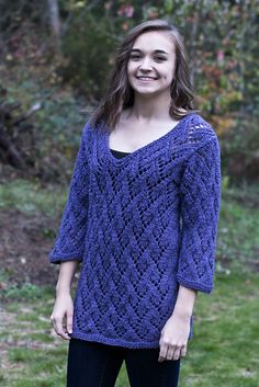 Ravelry: Arcadian Lace Pullover pattern by Cheryl Beckerich