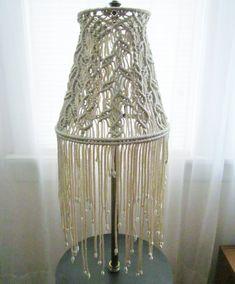 Macrame Lampshade for Floor Lamp Sprigs Handmade por craft2joy