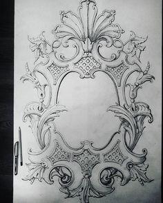 """Эскиз резного медальона в стиле""""классицизм"""". Sketch of a carved medallion.#sketch#carved#medallion#drawingart#artwork#drawing#pattern#woodcarving#classical#art#artist#masterpiece#master#carver#frame#ornament#орнамент#эскиз#классицизм#искусство#рисуноккарандашом#рисунок#резьбаподереву#шедевр#узоры#рама"""