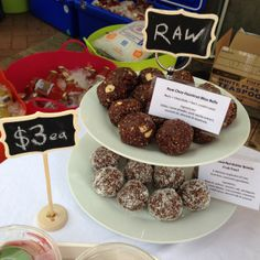 #Raw Bliss Balls from my Subiaco market stall www.mollyspicnic.com