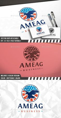 American Eagle Badge Logo by BossTwinsArt | GraphicRiver Get it now!!