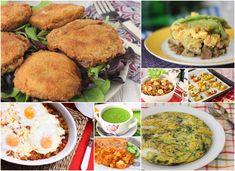 Recetas ricas de verduras Sin Gluten, Potato Salad, Tapas, Mashed Potatoes, Appetizers, Vegetarian, Meat, Chicken, Cooking