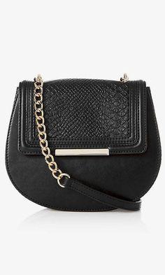 rounded faux snakeskin shoulder bag from EXPRESS Ralph Lauren Handbags, Chloe Handbags, Fall Handbags, Black Handbags, Leather Handbags, Chloe Drew Bag, Express Fashion, Beautiful Handbags, Brown Bags
