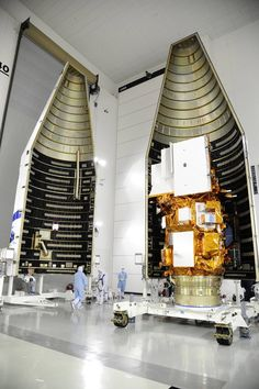 satellite dissection.  Satellites are built in two halves than they have a 'mate date'; where they are joined.