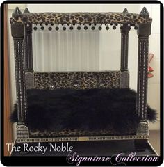Rocky Noble Signature Four Poster Pet Bed from Lush Pups