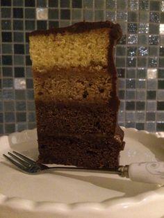 Chocolate Caramel Ombre Cake