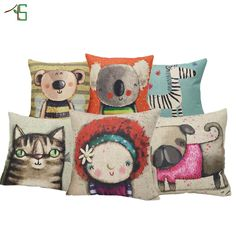 Pillowcases Best Dog Lover Gifts Cotton Linen Throw Pillow Case Cushion Cover Funda Cojin Pillow Cover Housse De Coussin Cojines Making Things Convenient For Customers Cushion Cover Table & Sofa Linens