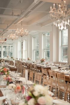 Manhattan loft wedding, photo by MGB Photo http://ruffledblog.com/manhattan-loft-wedding #receptions #loftweddings