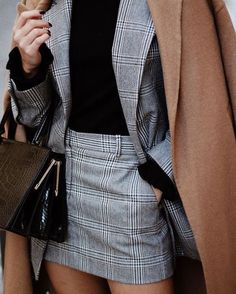 Chic business outfit.