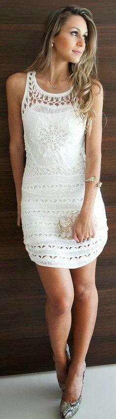 Summer Clothes White Street Style Inspiration Latest Women Fashion