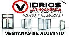 Vidrios Latinoamérica     Fabricamos:  ventanas, fachadas, divisiones de baños en acrílico y vidrio, puertas de  seguridad en aluminio y vidrio, marquesinas en vidrio y policarbonato,  ventanas acústicas anti ruido, vidrios templados.    Visitas  sin ningún compromiso   PBX: 7590068-  MOVIL: 320-2025346
