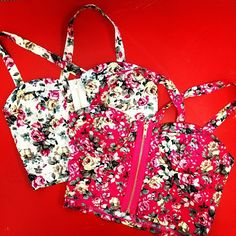 Floral bustiers coming soon! #bustier #floral #print #summer #spring