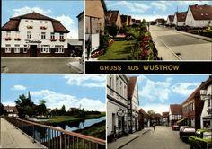 Ansichtskarte / Postkarte Wustrow im Wendland, Strassenansicht, Ratskeller, Brücke, F... | akpool.de