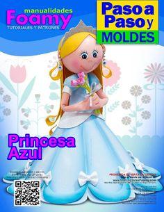 Pruncesa azul Foam Crafts, Projects To Try, Dolls, Disney Princess, Disney Characters, Google, Ideas, Cool Crafts, Feltro