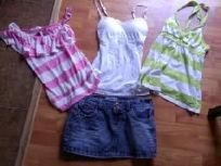 LOT OF CLOTHES, HOLLISTER, AEROPOSTALE & MORE JEANS MINI SKIRT & 3