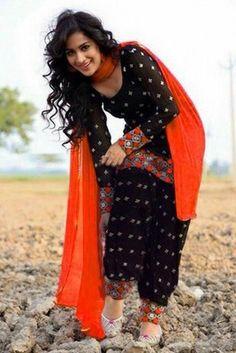 Black Color Semi Stitched Cotton Patiyala Suit By E Basket Patiala Salwar Suit