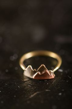 Mountain Stacking Ring on BourbonandBoots.com