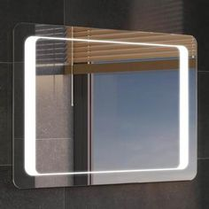 Search for bathroom mirrors Backlit Mirror, Mirror With Led Lights, Lighted Wall Mirror, Led Mirror, Vanity Sink, Bath Vanities, Bathroom Kids, Light Bathroom, Bathroom Mirrors