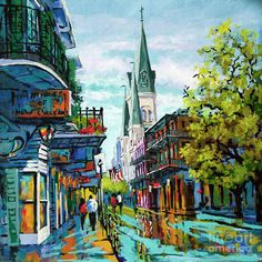 St Louis Cathedral French Quarter New Orleans by DianneParksArt Louisiana Art, New Orleans Louisiana, Canvas Art, Canvas Prints, Art Prints, New Orleans Apartment, New Orleans Art, New Orleans Decor, St Louis Cathedral