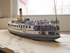 S.S. NOBSKA Diorama Project...To view more on this unique undertaking, visit https://www.facebook.com/rex.stewart3/posts/10208536487230328.