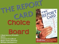 the report card book setting A fifth-grade genius turns the spotlight on grades, good and bad, in this novel from andrew clements, the author of frindlenora rose rowley is a genius, but don't tell anyone.