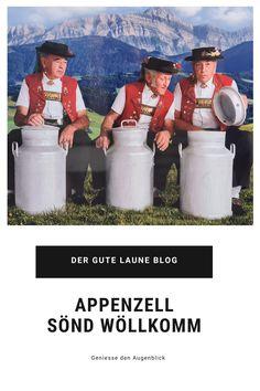 """Appenzell ist urchig und die bemalten Häuser sind eine Augenweide. Eingebettet in eine liebliche Hügellandschaft am Fusse des Alpsteinmassives. Zudem ein Abstecher zum weltberühmten Aescher. Ich fühle mich sehr """"wöllkomm"""" im Appenzellerland. National Geographic, Blog, Craft Business, Painted Houses, Good Mood, Blogging"""