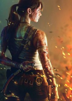 Here is my submission for Tomb Raider Reborn contest. My wife did such a great job at being Lara Croft. Did about 3 different shoots to get the right picture. Tomb Raider Lara Croft, Warrior Girl, Fantasy Warrior, Lady Fantasy, Fantasy Art, Tom Raider, Lara Croft Cosplay, Laura Croft, 4k Wallpaper For Mobile