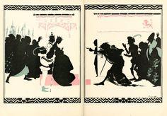 """The Sleeping Beauty"". Double page illustration by Arthur Rackham Harry Clarke, Arthur Rackham, Grimm, Jeter Un Sort, Fractured Fairy Tales, Fairytale Art, Art Base, Typography Prints, Illustrations"