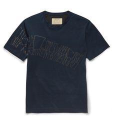 WooyoungmiSlim-Fit Chalk-Print Cotton-Jersey T-Shirt