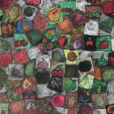 Cezanne_Fruit - VOTA 2017 / Oil Pastel & Acrylic on Paper - Grade 5 / Room 4
