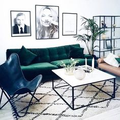 we are so obsessed with your living room, @rebfre! velvet and leather and a big beni, oh my !
