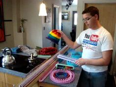 How To Make A Shawl On A Knifty Knitter Circle Loom - YouTube