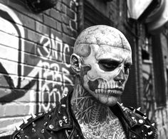 An exclusive interview with the extremely tattooed Rick Genest (aka #ZombieBoy). http://illusion.scene360.com/photography/64524/interview-with-extremely-tattooed-rick-genest-rico-zombie-boy/ #tattoo #skull