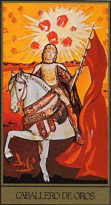 tarot card, knight of pentacles