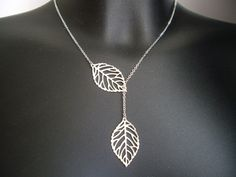SALE 10 OFF  Leaf necklace  Leaf lariat by Thedandelionjewelry, $17.50