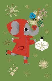 Roger la Borde | Festive Elephant Notecard Pack by Daniel Roode