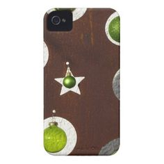 Christmas Ornaments iPhone 4 Cover from Zazzle.com