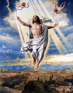 jesus ascention | jesus ascension painting image search results