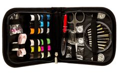 PROFESSIONAL SEWING KIT ON AMAZON. Attractive, Compact Carrying Sewing Kit, that is Equipped with 78 MOST USEFUL SEWING ACCESSORIES (45% More Sewing Accessories Than Other Sewing Kits in its Category), is perfect for every day, travel or emergencies. Due to the compact size, this kit can be easily stored in your desk, purse, car, etc.