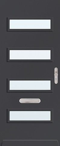ML710 Cando voordeur Solid All-inclusive blank glas