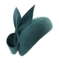 "Gina Foster ""Meribel"" Felt Beret Hat with Bow"